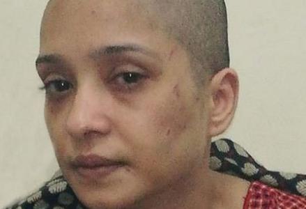 اسماء عزيز ..زوجها حلق شعرها وضربها لانها رفضت الرقص له ولاصدقائه